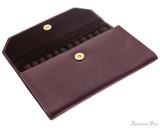 Girologio 12 Pen Case Portfolio - Brown Leather - Open