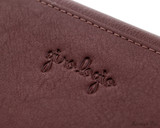 Girologio 12 Pen Case Portfolio - Brown Leather - Logo
