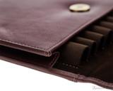 Girologio 12 Pen Case Portfolio - Brown Leather - Loops