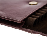 Girologio 12 Pen Case Portfolio - Brown Leather - Loops
