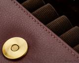 Girologio 12 Pen Case Portfolio - Brown Leather - Closeup