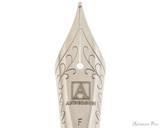 Anderson Pens #6 Steel Nib - Silver, Fine - Nib Closeup