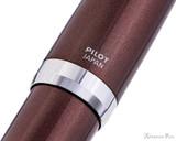 Pilot Metal Falcon Fountain Pen - Brown - Imprint