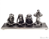 Jac Zagoory Write No Evil Pewter Pen Holder