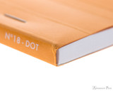 Rhodia No. 18 Staplebound Notepad - A4, Dot Grid - Orange binding