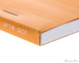 Rhodia No. 18 Staplebound Notepad - A4, Dot Grid - Orange binding