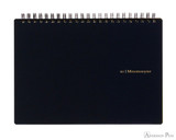 Maruman Mnemosyne N183A Notebook - A5, Blank - Black