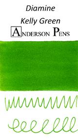 Diamine Kelly Green Ink Color Swab