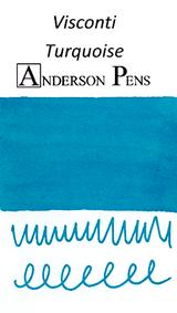 Visconti Turquoise Ink Cartridges (7 Pack) color swab