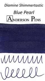 Diamine Shimmertastic Blue Pearl Ink Sample (3ml Vial)
