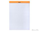 Rhodia No. 18 Staplebound Notepad - A5, Graph - Orange open