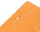Rhodia No. 16 Staplebound Notepad - A5, Dot Grid - Orange staple detail