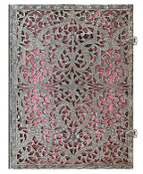 Paperblanks Ultra Journal - Silver Filigree Blush Pink, Lined