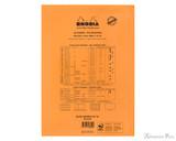 Rhodia No. 18 Staplebound Notepad - A4, Lined - Orange back