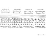 Anderson Pens #6 Steel Nib - Silver, Broad - Nib Card 2
