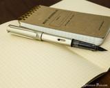 Lamy LX Fountain Pen - Palladium - On Notebook Posted