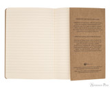 Clairefontaine Flying Spirit Notebook - A5, Lined - Tan inside flap
