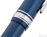 Sailor Pro Gear Slim Fountain Pen - Metallic Blue with Rhodium Trim - Cap Band