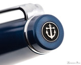 Sailor Pro Gear Slim Fountain Pen - Metallic Blue with Rhodium Trim - Cap Jewel