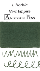 J. Herbin Vert Empire Ink Color Swab