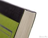 ProFolio Oasis Notebook - B5, Green - Binding