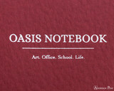 ProFolio Oasis Notebook - B5, Red - Logo 2