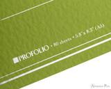 ProFolio Oasis Notebook - A5, Green - Logo