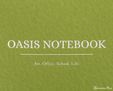 ProFolio Oasis Notebook - A5, Green - Logo 2