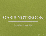ProFolio Oasis Notebook - A6, Green - Logo 2