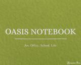 ProFolio Oasis Notebook - A6, Green - Logo 2
