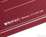 ProFolio Oasis Notebook - A6, Red - Logo