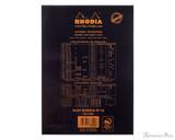 Rhodia No. 16 Staplebound Notepad - A5, Lined - Black back cover