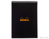 Rhodia No. 18 Wirebound Notepad - A4, Lined - Black