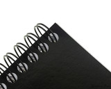 Rhodia No. 18 Wirebound Notepad - A4, Lined - Black binding closeup