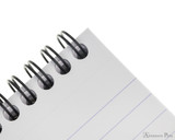 Rhodia No. 18 Wirebound Notepad - A4, Lined - Black binding detail