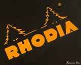 Rhodia No. 18 Wirebound Notepad - A4, Lined - Black logo