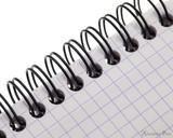 Rhodia No. 13 Wirebound Notepad - A6, Graph - Orange binding detail