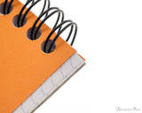 Rhodia No. 13 Wirebound Notepad - A6, Graph - Orange detail