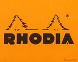 Rhodia No. 13 Wirebound Notepad - A6, Graph - Orange logo