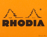 Rhodia No. 13 Wirebound Notepad - A6, Graph - Orange logo