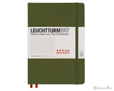 Leuchtturm1917 Notebook - A5, Red Dots - Army