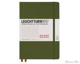 Leuchtturm1917 Notebook - A5, Red Dots - Army