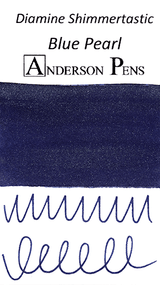 Diamine Shimmertastic Blue Pearl Ink Color Swab