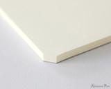 Midori MD Paper Pad A4 - Cream, Blank - Corner