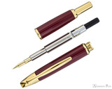 Pilot Vanishing Point Fountain Pen - Red with Gold Trim - Parted Out