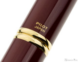 Pilot Vanishing Point Fountain Pen - Red with Gold Trim - Imprint
