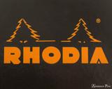 Rhodia  Staplebound Notebook - A5, Lined - Black logo