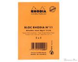 Rhodia No. 11 Staplebound Notepad - 3 x 4, Graph - Orange back cover