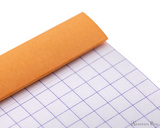 Rhodia No. 11 Staplebound Notepad - 3 x 4, Graph - Orange cover fold over