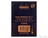 Rhodia No. 11 Staplebound Notepad - 3 x 4, Lined - Black back